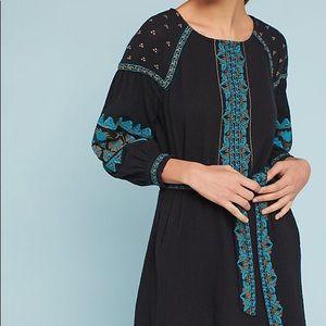 Anthropologie Antik Batik Petite Embroidered Dress